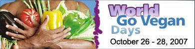 World GO VEGAN Days Oct 27-29